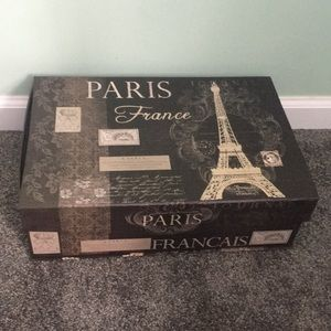 Paris France Eiffel Tower storage box